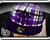 [LD] Purple Plaid hat