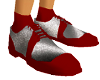 KM-Red & Silver Shoes