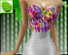 MC Floral-wht Mini Dress