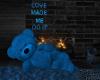 Blue Teddy Bear Cuddles