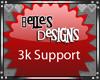 {B} 3k Support Sticker