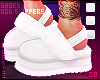 в. Fur Slippers White