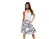 (1NA) Gray Floral Dress