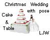 LJW Christmas Wed Cake