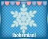 Small Blue Snowflake