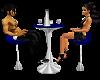 Blue Club Table