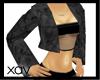 [X]Black Chinchilla Coat