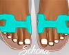ṩOran Sandals Aqua