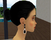 Black Ruby Earrings