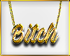 C|B!tch Gold Necklace