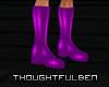 !TB! PVC Purple Boots