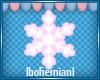 Wht & Pink Snowflake