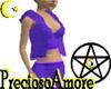 {p}Purple Open Hoodie*L