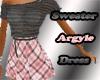 Sweater Argyle Dress