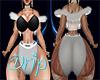 Sassy Drip Fur Vest Wht