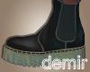 [D] Carol grey boots