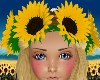 Sunflower Crown Headband