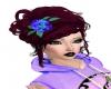 rose blue/purple hairpin