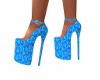High heels china blue