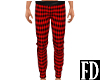 Red Plaid Winter Pants