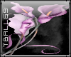 purple lillies sticker