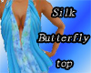 Silk butterfly top