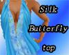 Silk butterfly top