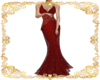 Custom gown crimson
