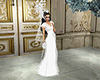 White flowerwedding dres