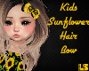 Kids Sunflower Hair Bow