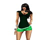 ~KJ~ Green Short Set