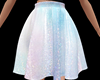 Iridescent Short Skirt