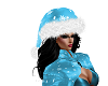 Blue Christmas Santa Hat