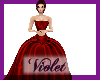 (V)Zac Posen Red Gown