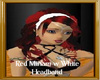 Red Miriam w White Headb