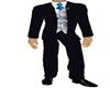 mens pinstripe blue tie