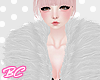 |bc| White fur coat