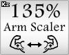 Scaler Arm 135%