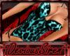 'DS Teal Leopard Bustier