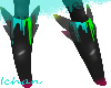 Black Neon Feet