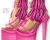 I│Fringed Heels Pink