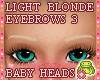 ! EYEBROWS 3 Blond KidsL