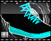 L Toxic Blue Wing Shoes