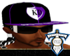 Blk/Pur KD Fitted Hat