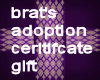 CTG BRATS ADOPTION BX