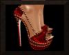 Red & Gold Femme Heels