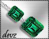 ! Emerald earrings