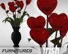 - Vase - Heart Roses
