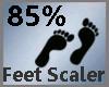 Feet Scaler 85% M