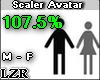 Scaler Avatar M F 107.5%